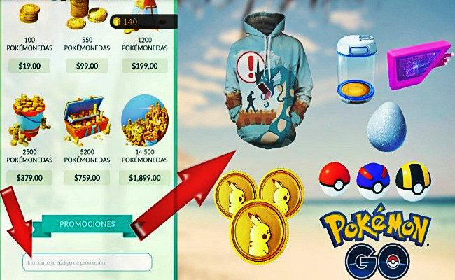 promociones pokemon go codigos