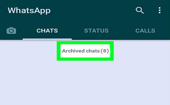 Desarchivar chats del whatsapp