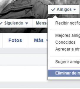 como eliminar amigos de Facebook